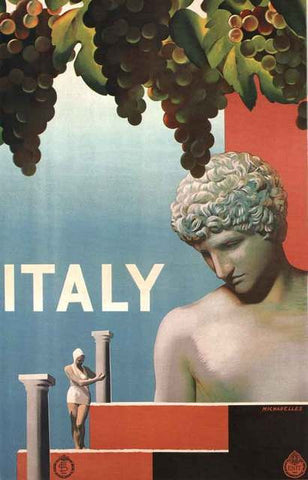 Italy Travel Ad Poster 11x17