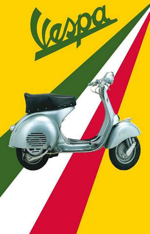 Vespa Scooter Ad Poster