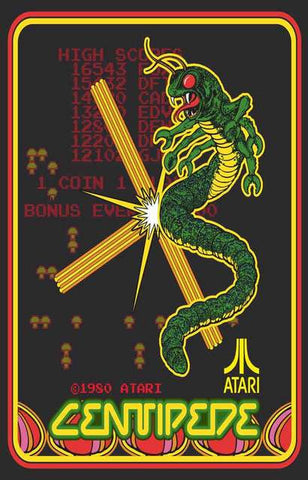 Atari Centipede Video Game Poster
