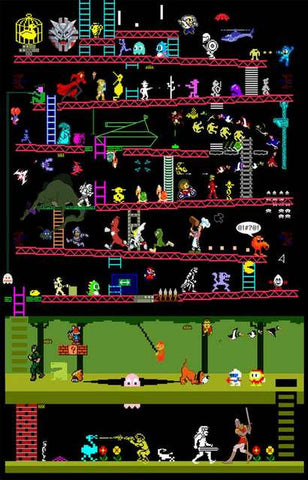 Classic Video Games Poster
