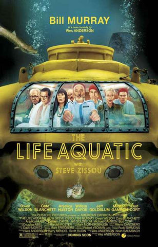 Life Aquatic Movie Poster 11x17