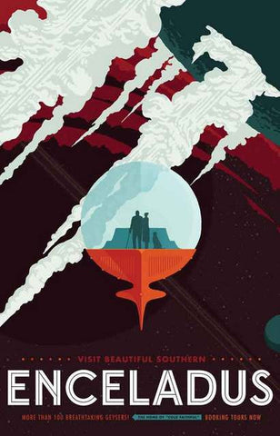 NASA Enceledus Travel Poster 11x17
