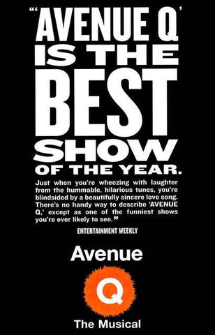 Avenue Q Broadway Show Poster