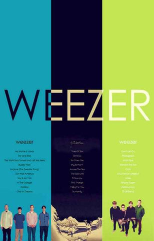 Weezer Band Poster