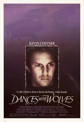 DANCES WITH WOLVES COSTNER PURPLE 26x38 POSTER