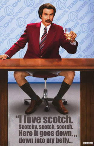 Anchorman Ron Burgundy Movie Poster