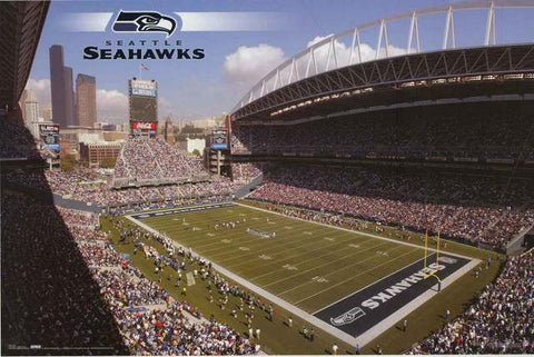 Seattle Seahawks Qwest Field NFL Poster