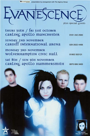 Evanescence Amy Lee UK Tour XL 40x60 Poster
