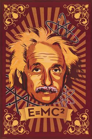 Albert Einstein Pop Art Poster