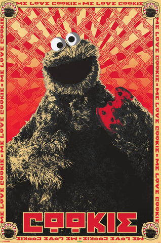 Cookie Monster Sesame Street Poster