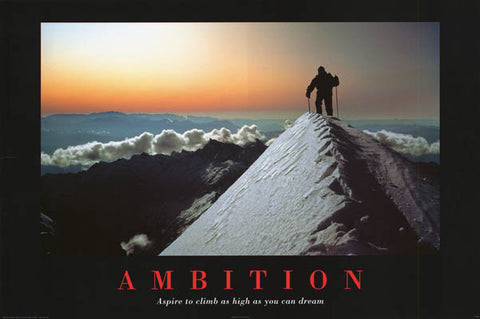 Ambition Inspiration Poster