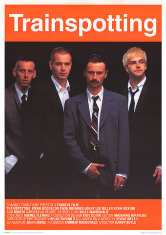 Trainspotting Cast Look Sharp! Orig 1996 25x35 Poster