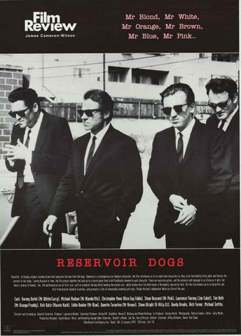 Reservoir Dogs Film Review Poster