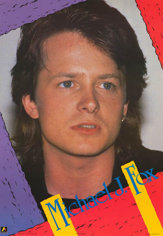 Michael J Fox Portrait Poster