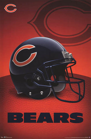 Chicago Bears NFL Football Poster