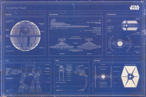 Star Wars Blueprint Poster