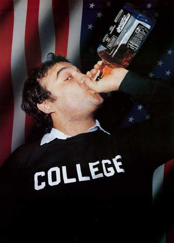 John Belushi College Whiskey Poster