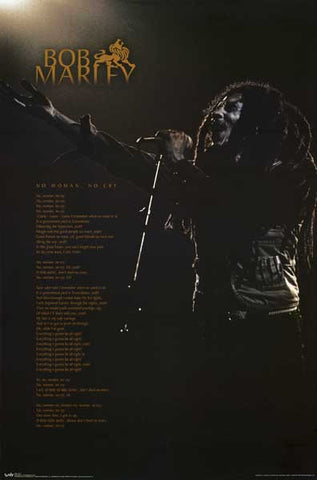 Bob Marley Song Lyrics Poster