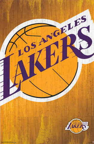 LA Lakers NBA Basketball Poster