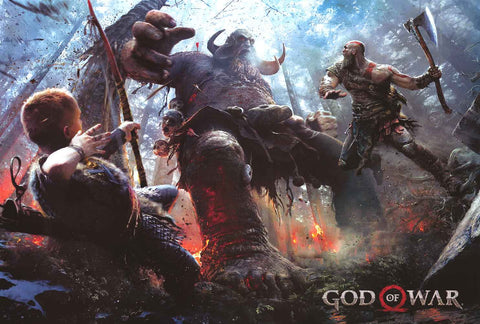 God of War Video Game Poster