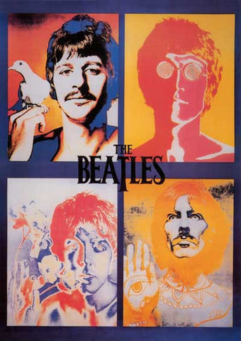 Beatles Psychedelic Portraits Poster