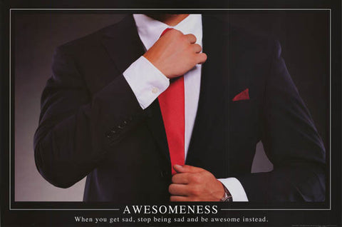 Awesomeness Inspirational Barney Stinson Quote Poster 24x36