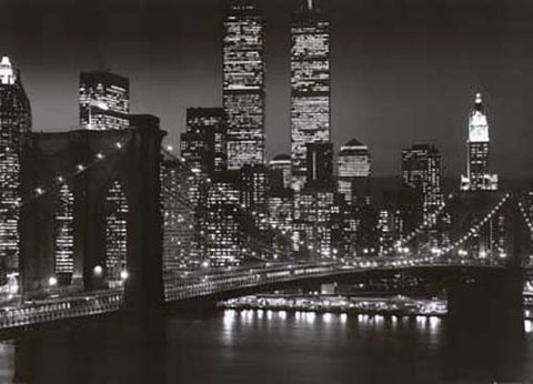 Brooklyn Bridge Night New York  Giant 40x55 Poster