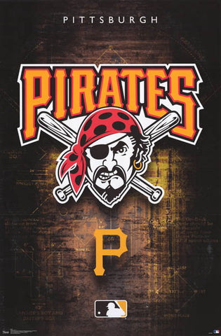 Pittsburgh Pirates MLB Baseball Poster