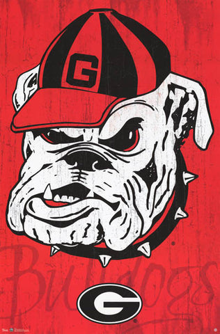 University of Georgia Bulldogs NCAA Team Logo Poster 22x34