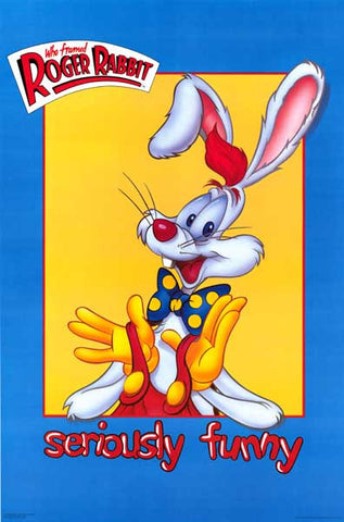 Roger Rabbit Seriously Funny orig 1987 23x35 Poster