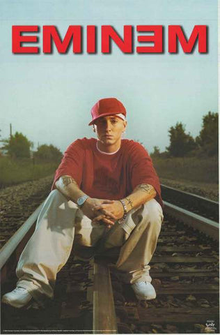 Eminem Railroad Tracks Poster