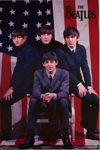 Beatles American Flag Poster