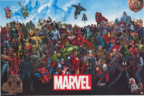 Marvel Comics Line-Up Poster
