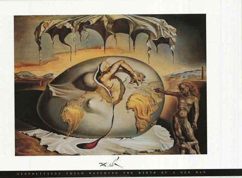 Salvador Dali Geopoliticus Child Poster