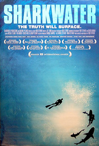SHARKWATER FILM THE TRUTH WILL SURFACE 24x36 POSTER