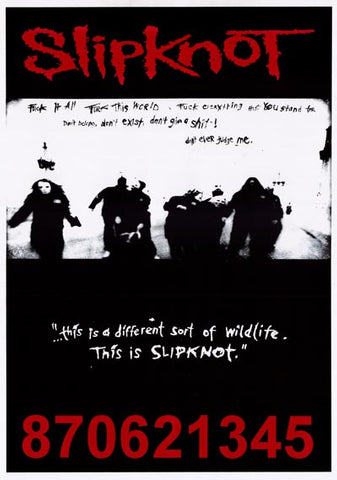 Slipknot Band Poster