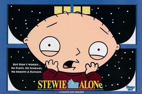 Family Guy Stewie Home Alone Parody Poster