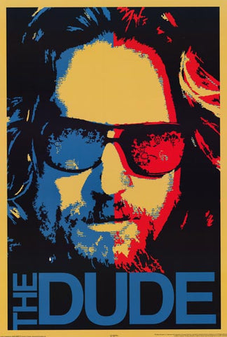 Big Lebowski The Dude Shepard Fairey XL 40x60 Poster