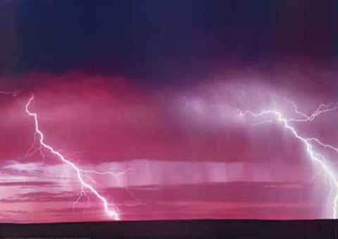 Lightning Strike Extreme Weather Poster
