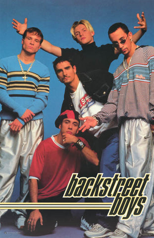 Backstreet Boys Fresh Fellows Orig 1998 22x34 Poster