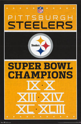 Pittsburgh Steelers NFL Super Bowl Poster