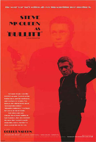 Steve McQueen Bullitt Movie Poster