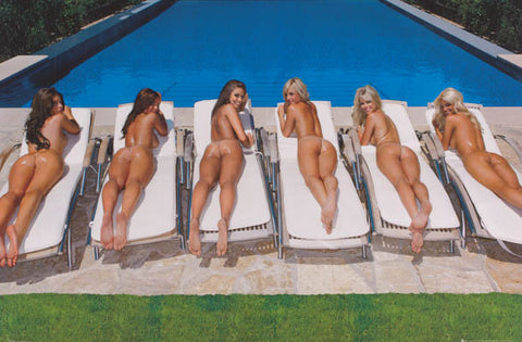 Nude Girls Sunbathing Poster