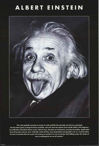 Albert Einstein Quote Poster