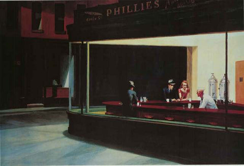 Edward Hopper Nighthawks Poster