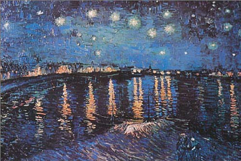 Van Gogh Starry Night Over Rhone Poster