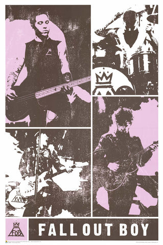 Fall Out Boy On the Road - Band Collage
