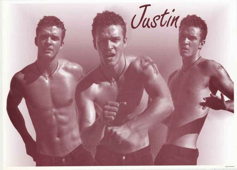 Justin Timberlake Shirtless Poster