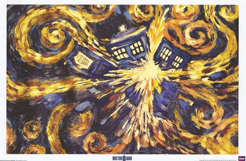 Doctor Who TARDIS Starry Night Poster