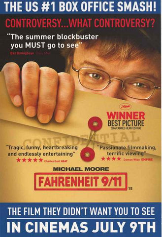 Fahrenheit 9/11 Michael Moore Movie Poster 20x30